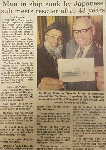 A newsp[aper article about Ismail Cader